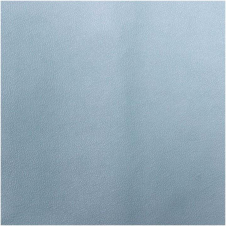 Coupon tissu simili cuir - bleu mat