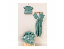 Drap de douche - vert glauque
