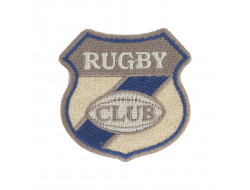 Écusson thermocollant - Rugby club beige