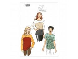 Patron de haut - Vogue 8877