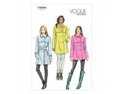 Patron de manteau et ceinture - Vogue 8884