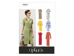 Patron de robe et ceinture - Vogue 8903