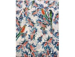 Tissu perroquets