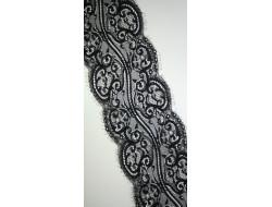 Dentelle nylon noire Largeur 135 mm