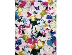 Tissu Polyester fleurs