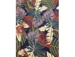 Tissu jersey feuilles de palmier