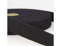 Sangle coton noire - 24 mm