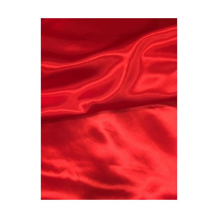doublure satin rouge
