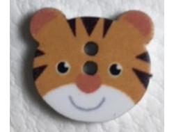 Bouton en bois tête de tigre