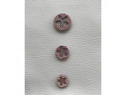 Bouton fleur rose 15 - 18 et 22 mm
