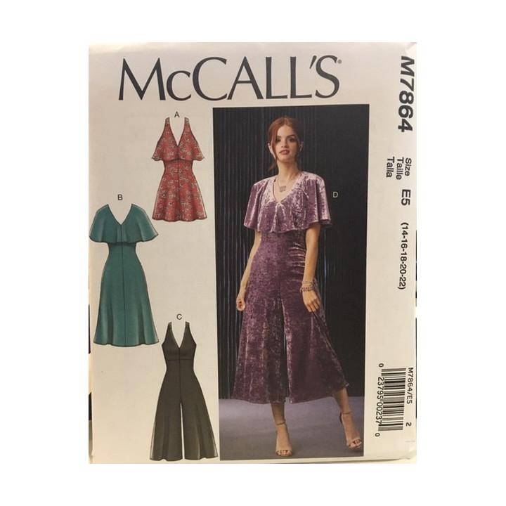 Patron robe pour femme McCall's M7864