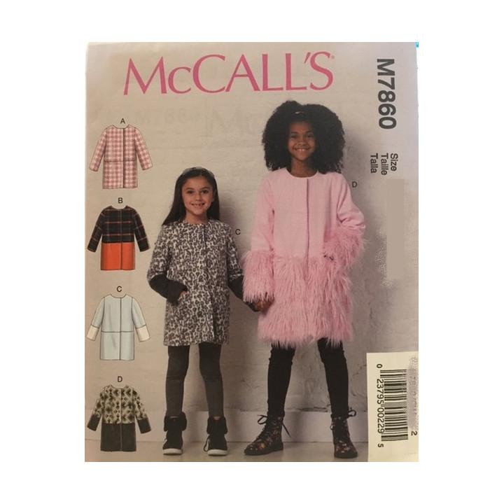 Patron manteaux pour enfant McCall's M7860