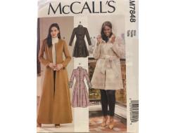 Patron  manteaux et ceinture pour femme McCall's M7856