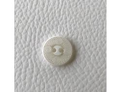 Bouton blanc tourbillon