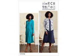 Patron de boléro et robe - Vogue 9358