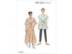 Patron de tunique, robe et pantalon - Vogue 9363