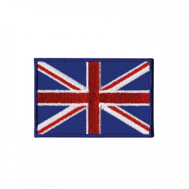 Écusson thermocollant drapeau Grande Bretagne - 4*2.5 cm