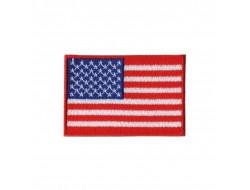 Écusson thermocollant drapeau USA - 4*2.5 cm