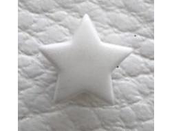 bouton étoile blanc