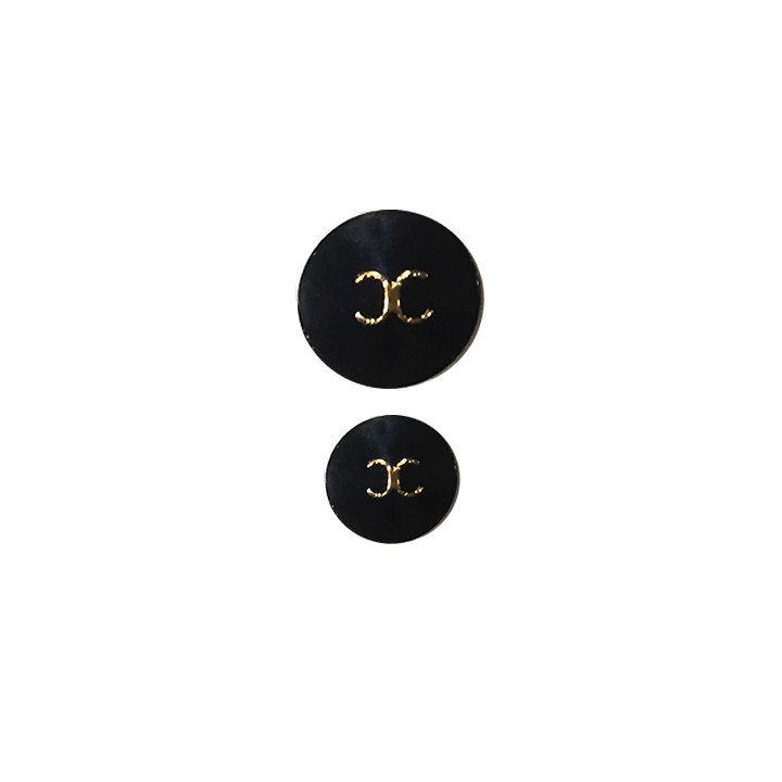 Boutons couture - Noir