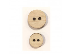 Boutons en bois naturel - 2 tailles