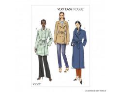 Patron de manteau et ceinture - Vogue 9367
