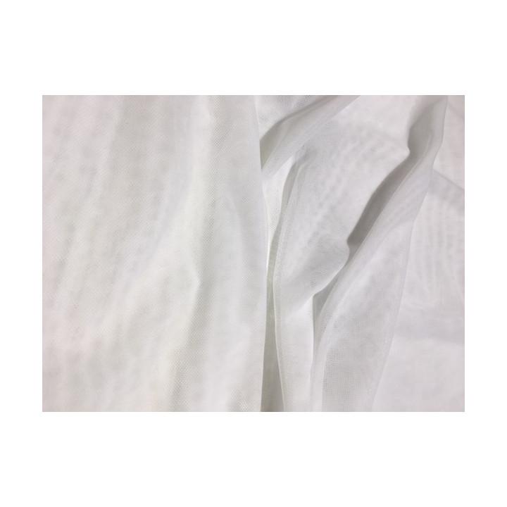 Tulle élastique - Blanc