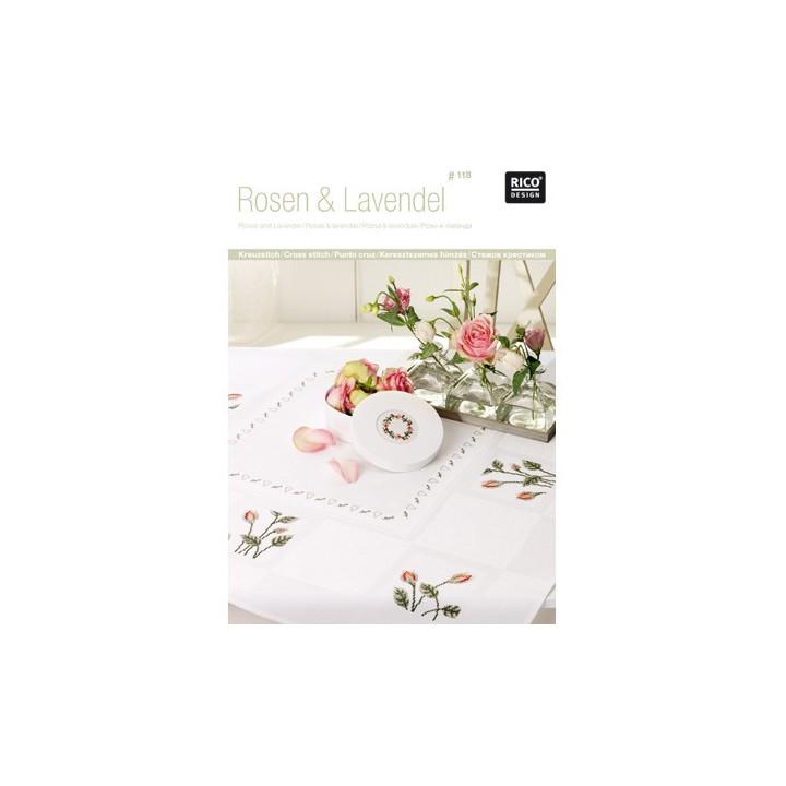 118 -  Roses et lavande - Rico Design