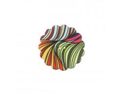 Bouton fantaisie - Fleur multicolore