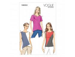 Patron de haut - Vogue 9004