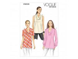 Patron de haut - Vogue 9006