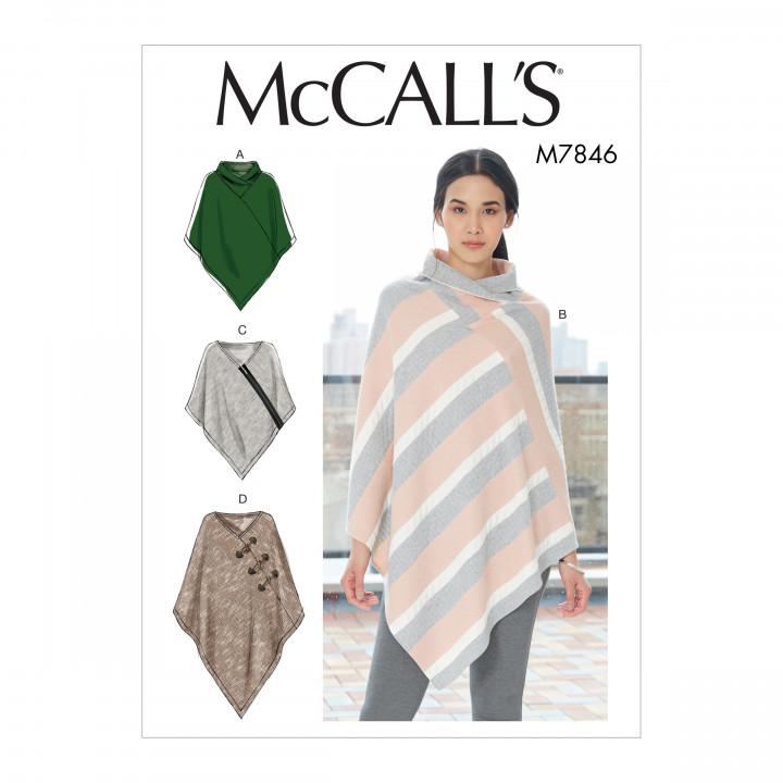 Patron ponchos pour femme McCall's M7846