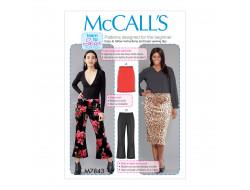 Patron  jupes et pantalons pour femme McCall's M7843