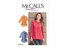 Patron chemises pour femme McCall's M7842