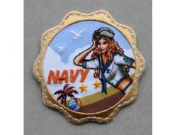 Ecusson thermocollant Navy
