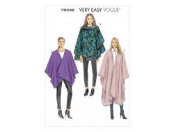Patron de cape - Vogue 9038