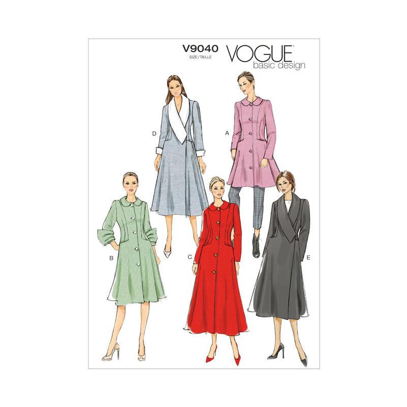 Patron Vogue V8346 : Manteau