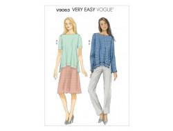 Patron de haut, jupe et pantalon - Vogue 9063