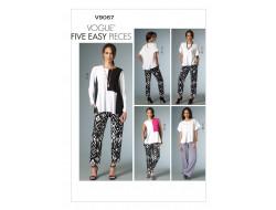 Patron de haut et pantalon - Vogue 9067