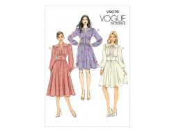 Patron de robe - Vogue 9076