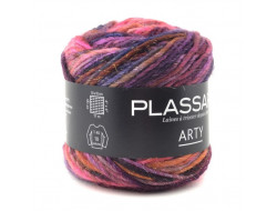 Arty Plassard - 42% laine, 50% acrylique, 6% polyamide, 2% polyester metal