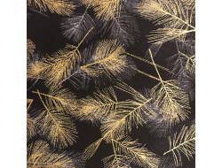 Tissu stof - Plumes dorées