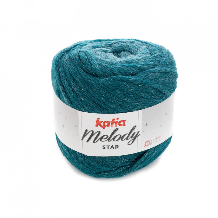 Melody Star Katia - 84% Merino - 10% Polyamide - 6% Polyester Metallisé
