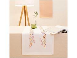 Kit de broderie - Chemin de table fleurs d'automne