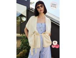 Parution Gilet façon Kimono - Mode&Travaux