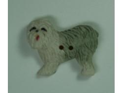 Bouton chien blanc