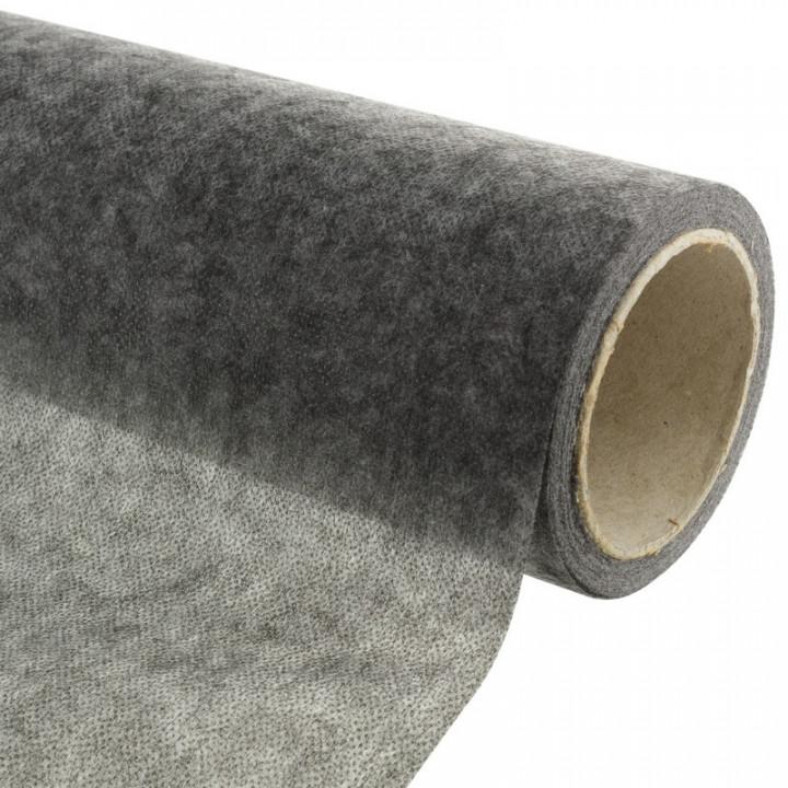 Entoilage non tissé thermocollant gris anthracite