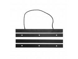 Suspension en bois pour broderie noir 30 cm - Rico Design