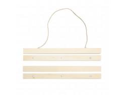 Suspension en bois pour broderie claire 30 cm - Rico Design