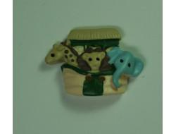Bouton coffre à jouets animaux